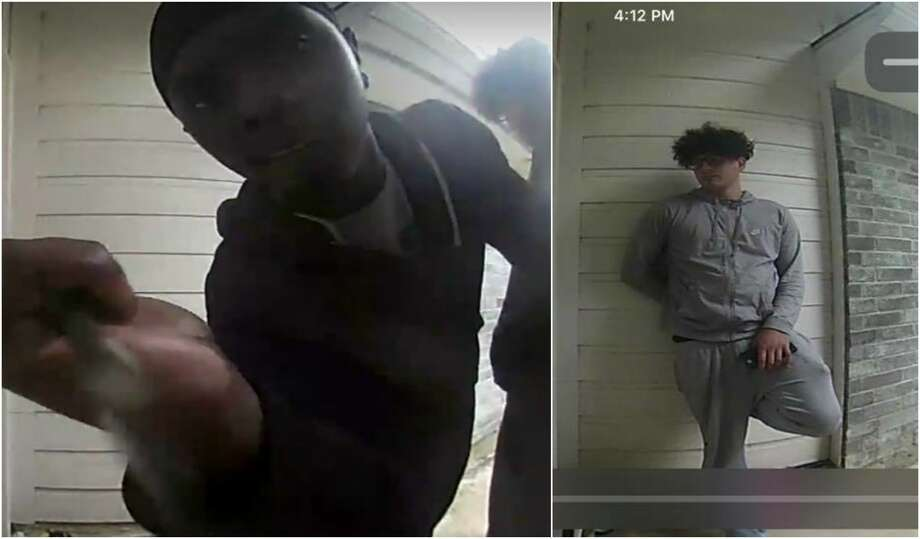 A Houston family captured video of two teenagers trying to break into their home Sunday afternoon. Photo: Javier Zapata