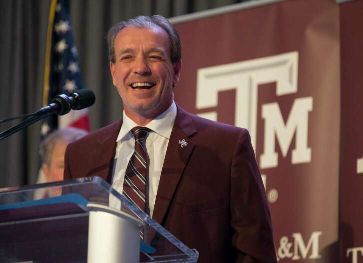 New Texas A&M University head football coach Jimbo Fisher talks during a press conference at the school's Hall of Champions at Kyle Field, Monday, Dec. 4, 2017, in College Station.