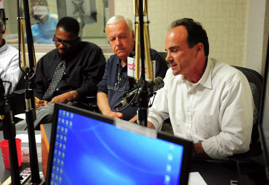 Bridgeport Mayor Joseph Ganim in October 2015 during an on-air debate at WICC 600 AM in Bridgeport, Conn. Entering December 2017, WICC parent Cumulus Media filed for bankruptcy protection from creditors, with the Atlanta-based company also operating the FM station WEBE 108 in Bridgeport. Photo: Christian Abraham / Hearst Connecticut Media / Connecticut Post