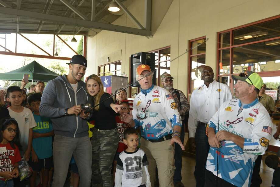 PHOTOS: Carlos Correa and Daniella Rodriguez at Bass Pro Shops in KatyHouston Astros' World Series champion Carlos Correa and his fiancŽ Daniella Rodriguez in partnership with Vamos A Pescarª share the joy of reeling in a #FirstCatch with over 100 families at Bass Pro Shops Katy on Saturday, Dec. 2, 2017, in Katy, Texas. (Anthony Rathbun/AP Images for Bass Pro Shops)Browse through photos above for a look at Carlos Correa and his fiancee Daniella Rodriguez at Bass Pro Shops in Katy. Photo: Anthony Rathbun/AP Images For Bass Pro Shops