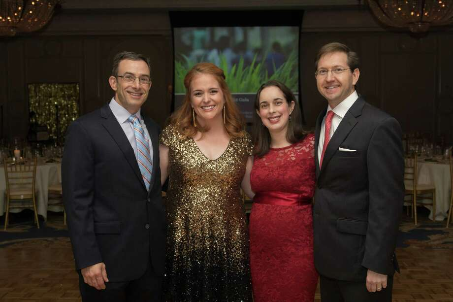 Supporters Ken and Meghan Lutschg, and Rachel and Todd Auwarter co-chaired the Nature Discovery Center's 2017 Twilight Gala, a Wild Night For Wild Life, at the Houstonian Hotel. Photo: Courtesy Photo