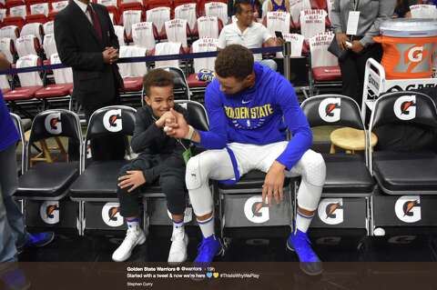 ccf913c105f1 Boy whose Warriors love went viral gets to meet Steph Curry - SFGate