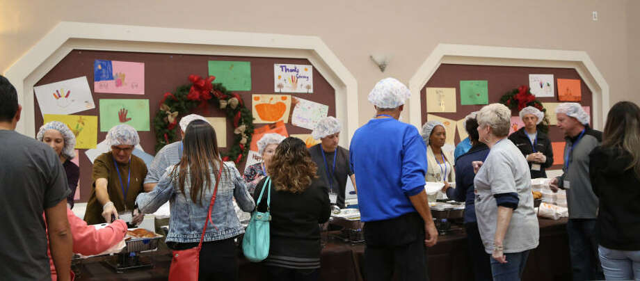 The 2017 Katy Community Thanksgiving Feast, hosted by Holy Covenant United Methodist Church, saw record numbers of guests come through its doors. Photo: Photographyfray