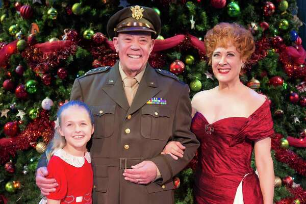 """Bella Yantis (from left), Conrad John Schuck and Karen Ziemba star in """"White Christmas,"""" which is coming to the Majestic Theatre."""