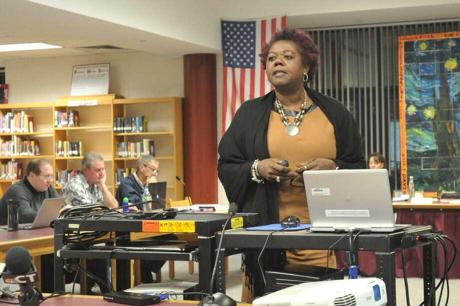 Torrington Superintendent Denise Clemons provided an overview of the Alliance District program Wednesday. Photo: Ben Lambert / Hearst Connecticut Media