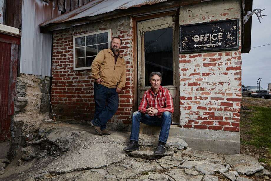"""""""American Pickers"""" Mike Wolfe and Frank Fritz will be looking for rusty gold in Texas in December and January. Photo: History Channel"""