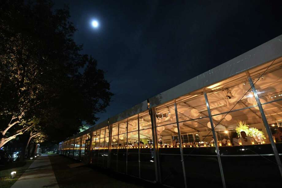 """Luminous,"" the Menil Collection's 30th Anniversary Ball, was timed to coincide with a super moon. The weather cooperated. Photo: Daniel Ortiz / DANIELORTIZPHOTOGRAPHY"