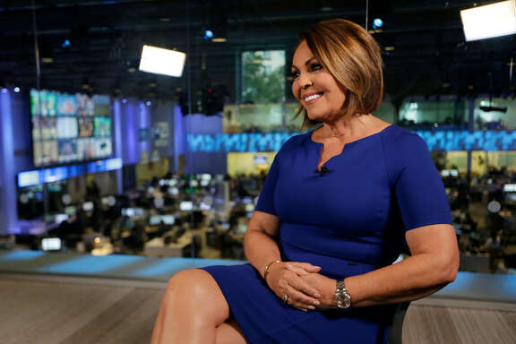 In this Wednesday, Nov. 29, 2017 photo, Univision news anchor Maria Elena Salinas sits for an interview in Doral, Fla. Salinas is leaving Univision News after more than 35 years, a decision greeted with sadness by many immigrants who see her and co-anchor Jorge Ramos as a lifeline in hostile times. (AP Photo/Lynne Sladky)
