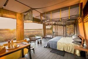 Zambia�s Liuwa Plain National Park now offers a permanent safari camp, the eco-luxury King Lewanika Lodge.