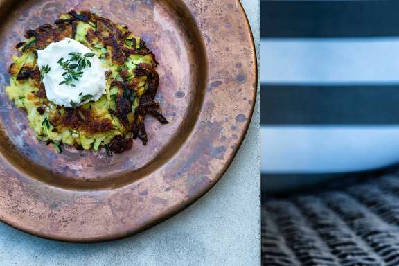 Zucchini Latkes from writer and cooking instructor Marcia Smart