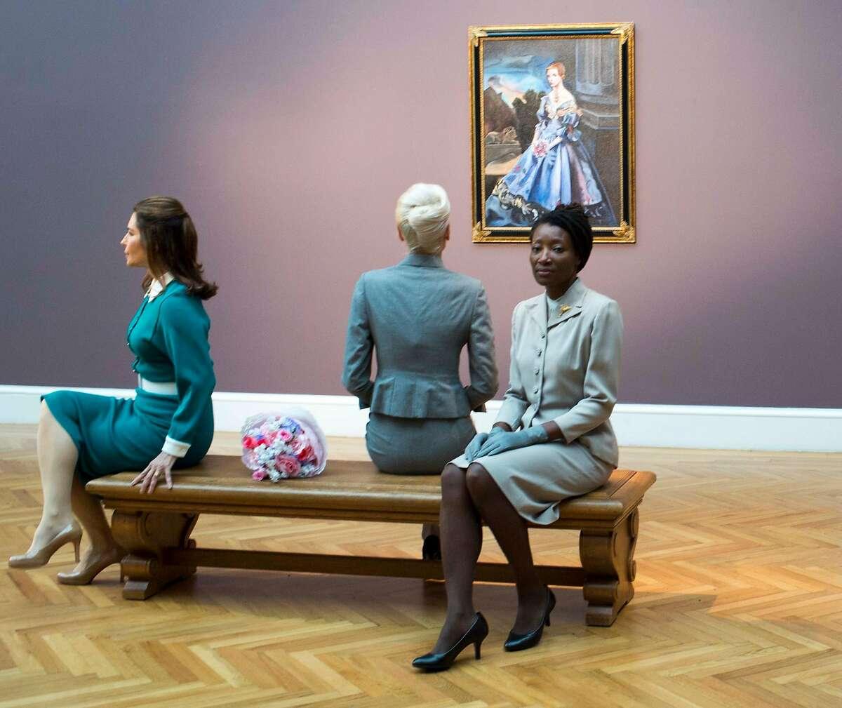 "The three ""Kims,"" Natasha Boas (left) Yuliya Slepukhina and Nkechi Emeruwa, in a scene from ""VertiGhost"""