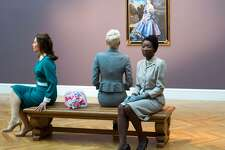 "The three ""Kims,"" Natasha Boas (left) Yuliya Slepukhina and Nkechi Emeruwa, in a scene from ""VertiGhost"""