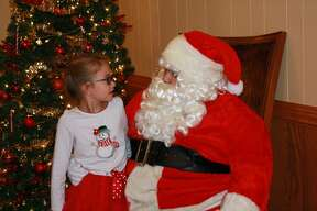 Area children had an opportunity to meet the big guy from up north, Santa, on Saturday at the Caseville Eagles Club.
