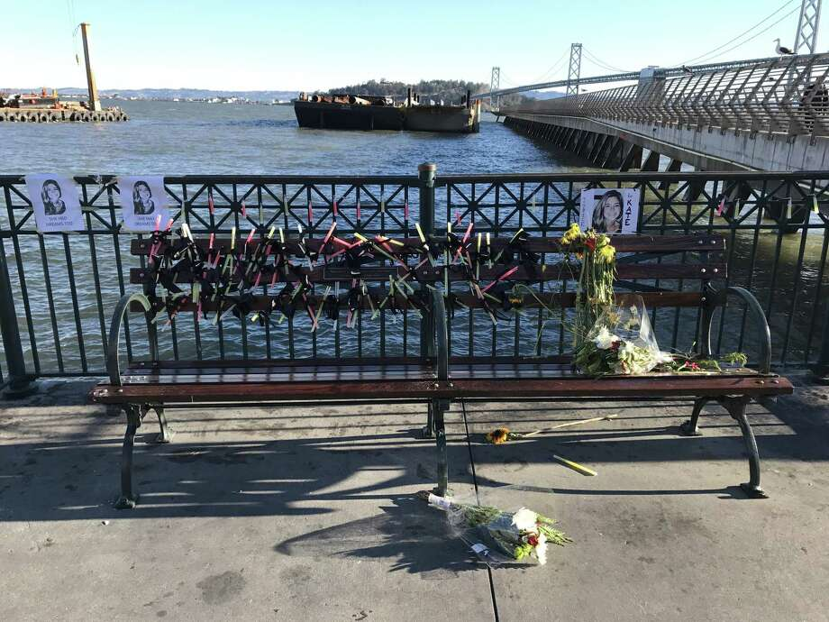 """Remnants of a shrine for Kate Steinle built by self-proclaimed """"alt-right"""" group after the Steinle family asked for it to be removed."""