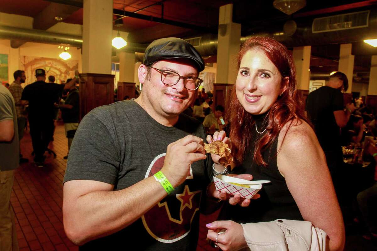 The HOU vs. ATX BBQ Throwndown at the Saint Arnold Brewing Co. was a battle for BBQ supremacy between the two cities. See who else came out to hang and eat fancy barbecue at the oldest craft brewery in Houston...