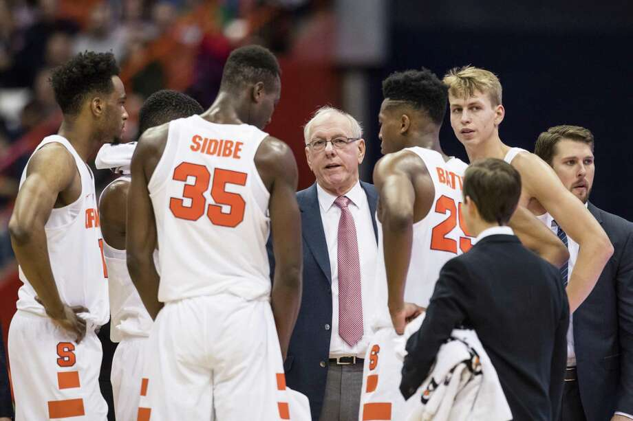 Jim Boeheim and Syracuse take on UConn on Tuesday night at Madison Square Garden in New York. Photo: Brett Carlsen / Getty Images / 2017 Getty Images