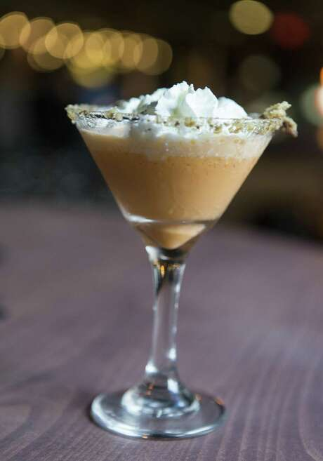The Pumpkin Pie Martini is available at the downtown On the Rocks bar at 270 Losoya St., and tastes exactly as the name suggests. Photo: William Luther /San Antonio Express-News / © 2017 William Luther