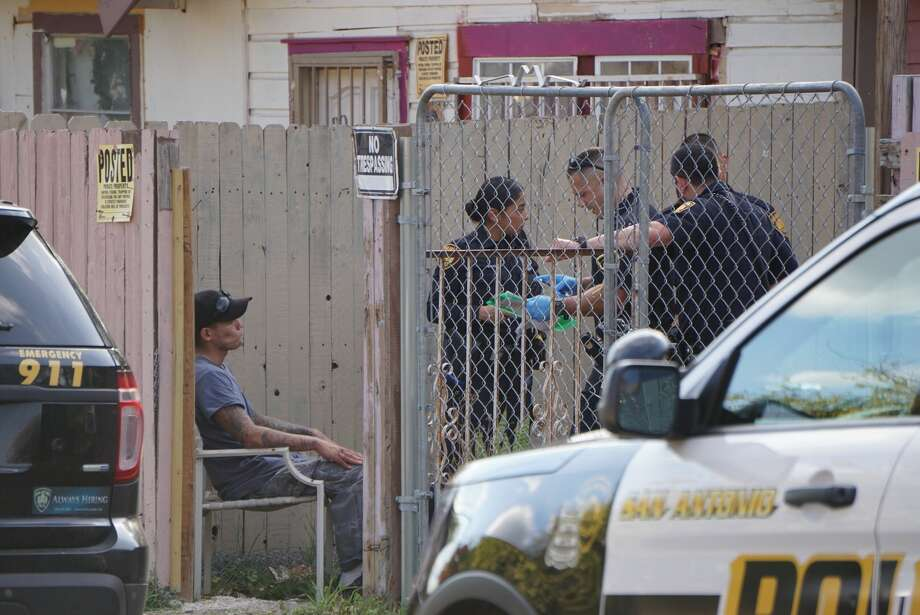 A man fired several shots inside his home in the 1500 block of Santa Monica about 3 p.m. Dec. 4, 2017. He told police he was shooting at someone but police said they found no one. Photo: Jacob Beltran