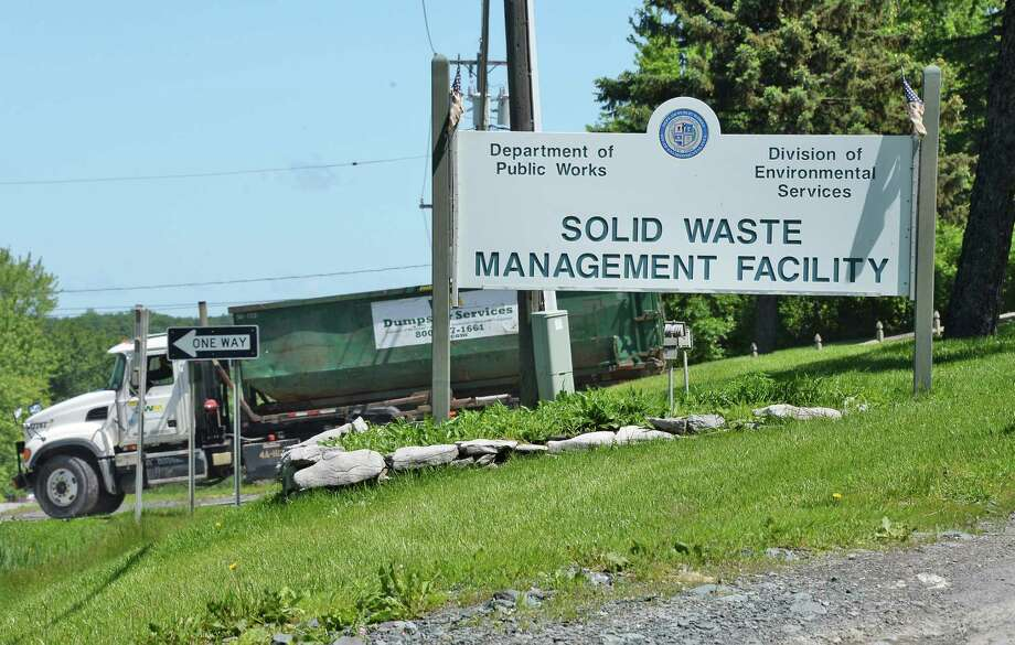 Entrance to the Colonie landfill Wednesday June 7, 2017 in Colonie, NY.  (John Carl D'Annibale / Times Union) Photo: John Carl D'Annibale / 20040715A