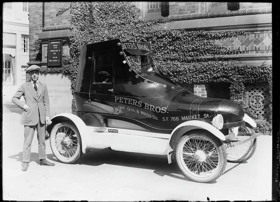 The famous Peters Brothers shoe delivery car.