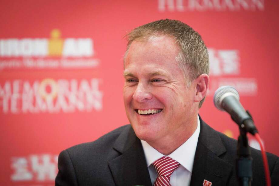 Hunter Yurachek's first task at Arkansas will be to hire a football coach to replace Bret Bielema, who was fired last month after five seasons in Fayetteville. Photo: Marie D. De Jesus, Staff / © 2015 Houston Chronicle