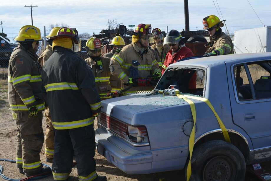 Area firefighters practice the latest techniques as part of a recent Extraction Tech School held in Plainview.