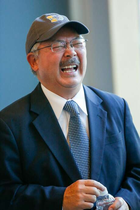 Mayor Ed Lee during a recent tour of the Golden State Warriors arena construction site. Photo: Amy Osborne, Special To The Chronicle