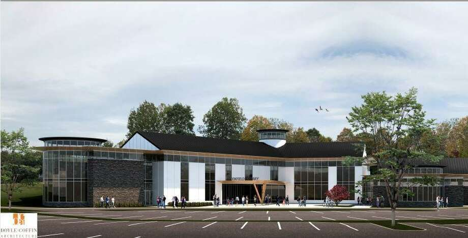 The Brookfield Library has proposed building a new 35,000-square-foot facility on the Horse Field on the Town Hall campus. Photo: Contributed Photo / Hearst Connecticut Media / The News-Times Contributed