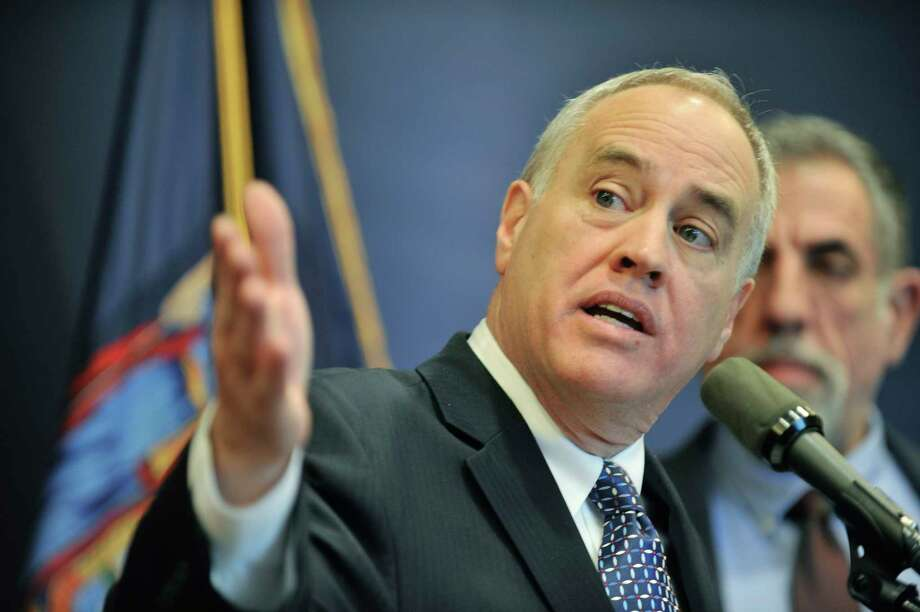 State Comptroller Thomas DiNapoli discusses the findings of a statewide audit on nursing homes on Monday, Feb. 22, 2016, in Albany, N.Y. A new audit by the comptroller's office found issues with the way the state?s Department of Agriculture and Markets oversees data collection. (Paul Buckowski / Times Union archive) Photo: PAUL BUCKOWSKI / 10035528A