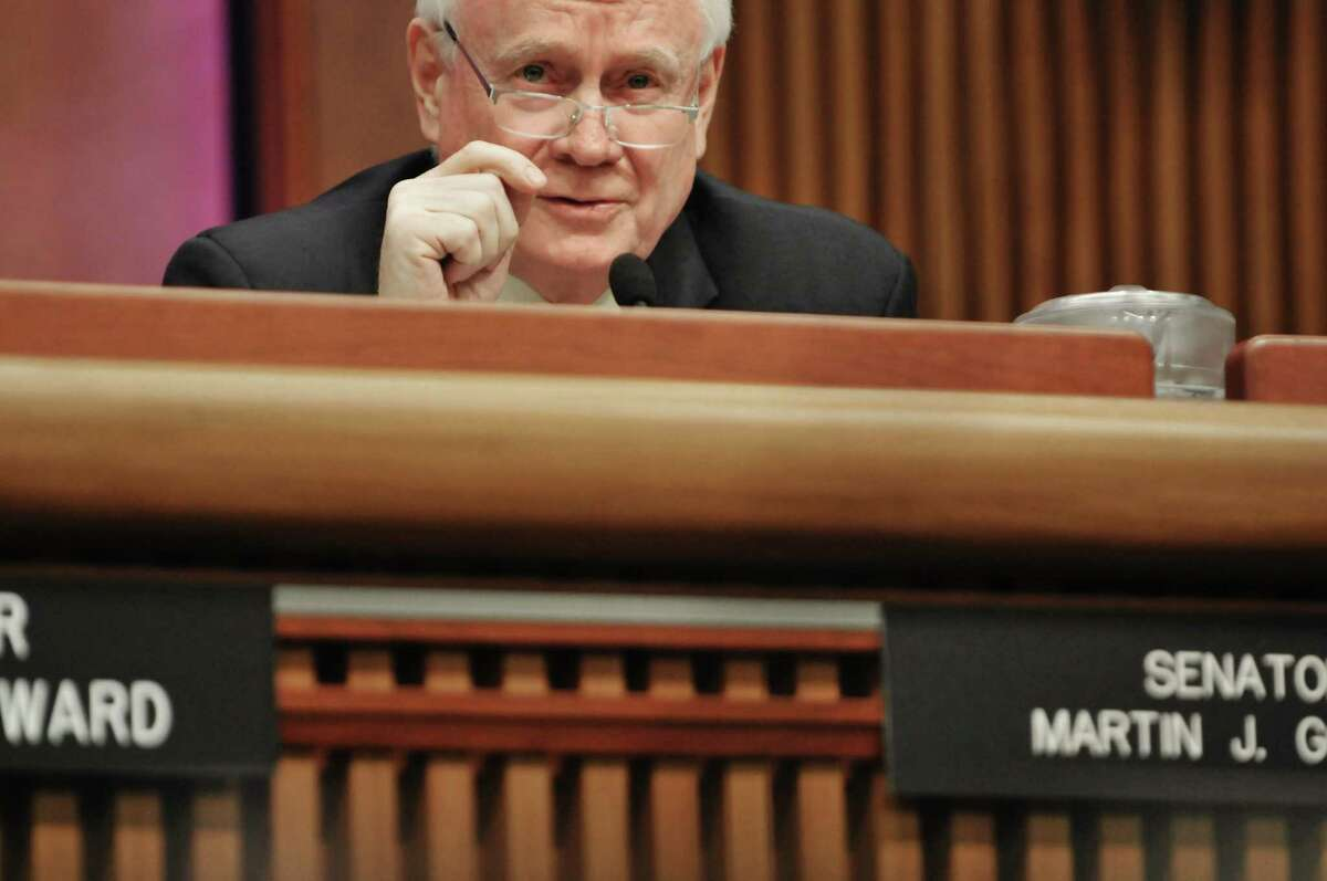 Sen. Martin Golden asks a question during a hearing Monday, Jan. 13, 2014, at the Legislative Office Building in Albany. (Paul Buckowski / Times Union archive)