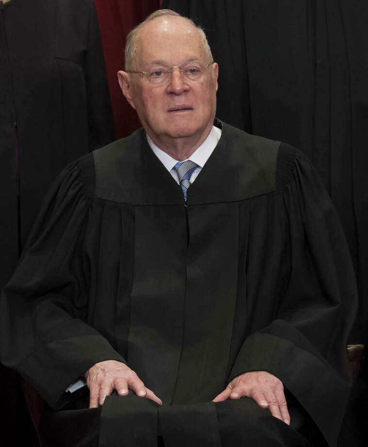 This file photo taken on June 1, 2017 shows US Supreme Court Associate Justice Anthony M. Kennedy sitting for an official photo with other members of the US Supreme Court in the Supreme Court in Washington, DC.   Photo: SAUL LOEB / AFP or licensors