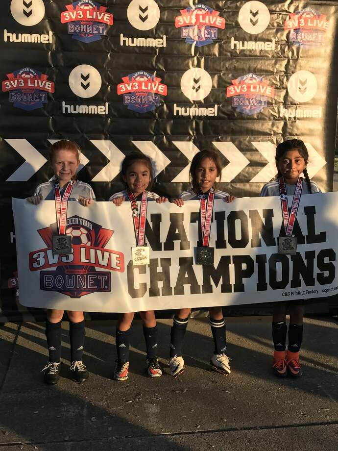 The Wtx Allstarz, of Midland, are from left to right, Emily Jones, Kayli Olivas and Kaylie Terrazas. The team came in second in the 2009 division at the 3v3 Live National Championship recently held in Nashville, Tennessee. Courtesy photo Photo: Courtesy Photo