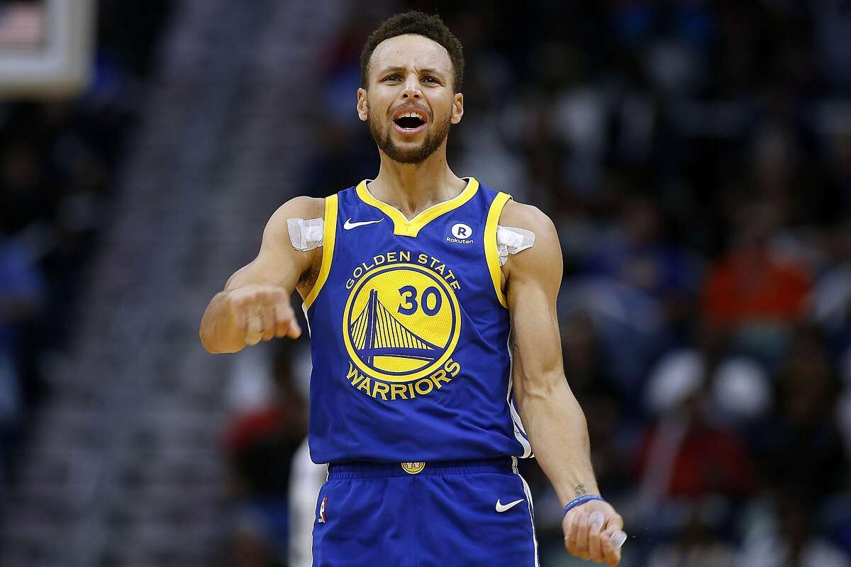 NEW ORLEANS, LA - DECEMBER 04: Stephen Curry #30 of the Golden State Warriors reacts to a missed shot during the first half of a game against the New Orleans Pelicans at the Smoothie King Center on December 4, 2017 in New Orleans, Louisiana. NOTE TO USER: User expressly acknowledges and agrees that, by downloading and or using this Photograph, user is consenting to the terms and conditions of the Getty Images License Agreement. (Photo by Jonathan Bachman/Getty Images)
