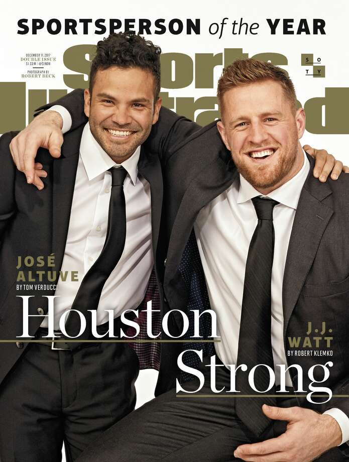 "PHOTOS: Sports Illustrated Sportsperson of the Year through the years and Watt's appearance on NBC's ""The Tonight Show Starring Jimmy Fallon"" on Monday night.Sports Illustrated has named the Astros' J.J. Watt and the Texans' J.J. Watt as Sportspersons of the Year for 2017. The magazine will hit newsstands later this month. Photo: Sports Illustrated"