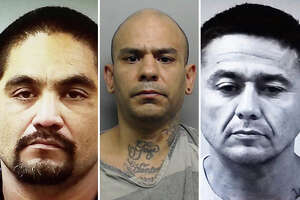 These three men are believed to be involved in an auto theft ring that delivered cars to the Zetas drug cartel.