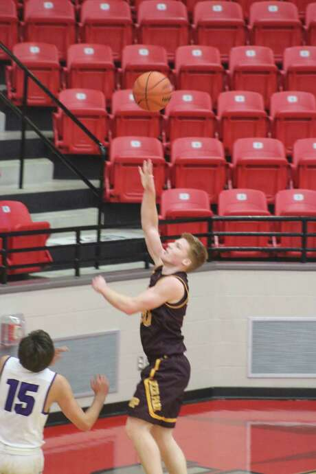 Cade Parham launches a second-half shot in the team's win over Montgomery Friday afternoon at Lee College. Photo: Robert Avery