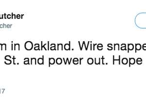 People in the East Bay commented on the windy conditions on Twitter.