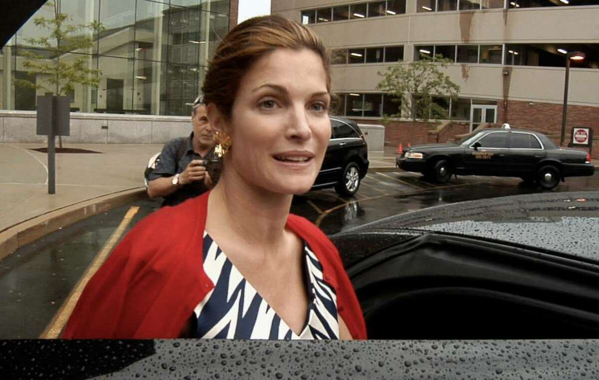 Stephanie Seymour leaves Superior Court at Stamford Monday June 28, 2010 after a hearing in connection to divorce of her husband Peter Brandt. (Photo/Douglas Healey).