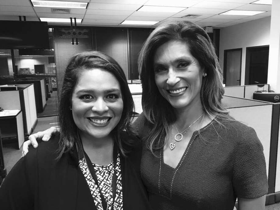 """KENS-TV newswoman Alicia Neaves said on Facebook that she was """"grateful and privileged"""" to learn from icon Sarah Lucero before her colleague resigned earlier this month. Photo: Courtesy Of Alicia Neaves /"""