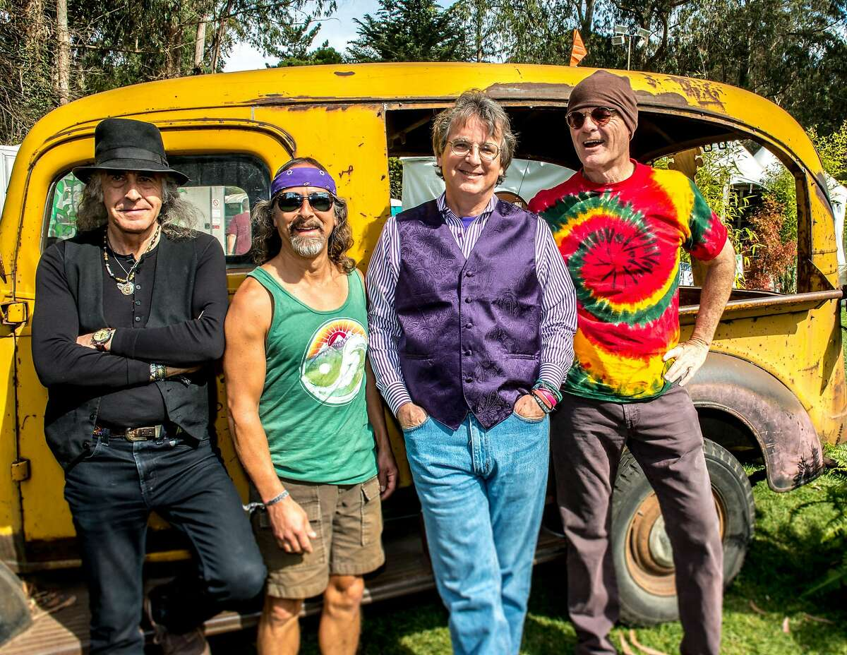 Moonalice at the Hardly Strictly Bluegrass Festival in San Francisco, Calif., in 2013. The band is in the midst of a Northeast tour, which will bring it to the Fairfield Theatre Company in Fairfield, Conn., on Tuesday, July 29, 2014. Band members include, from left, Pete Sears, Barry Sless, Roger McNamee and John Molo.