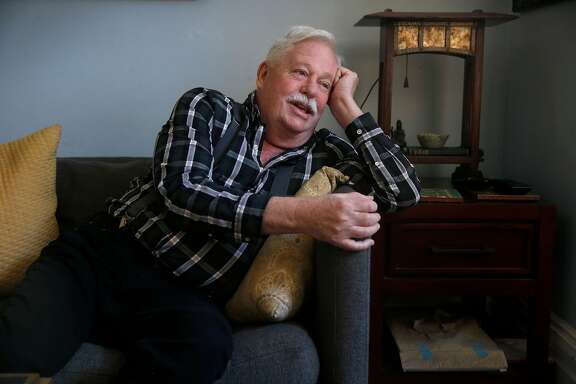 "Armistead Maupin is seen at his home in San Francisco, Calif. on Thursday, Sept. 28, 2017. The author of the ""Tales of the City"" novels, and former Chronicle writer, is beginning a nationwide book tour for his memoirs, ""Logical Family""."