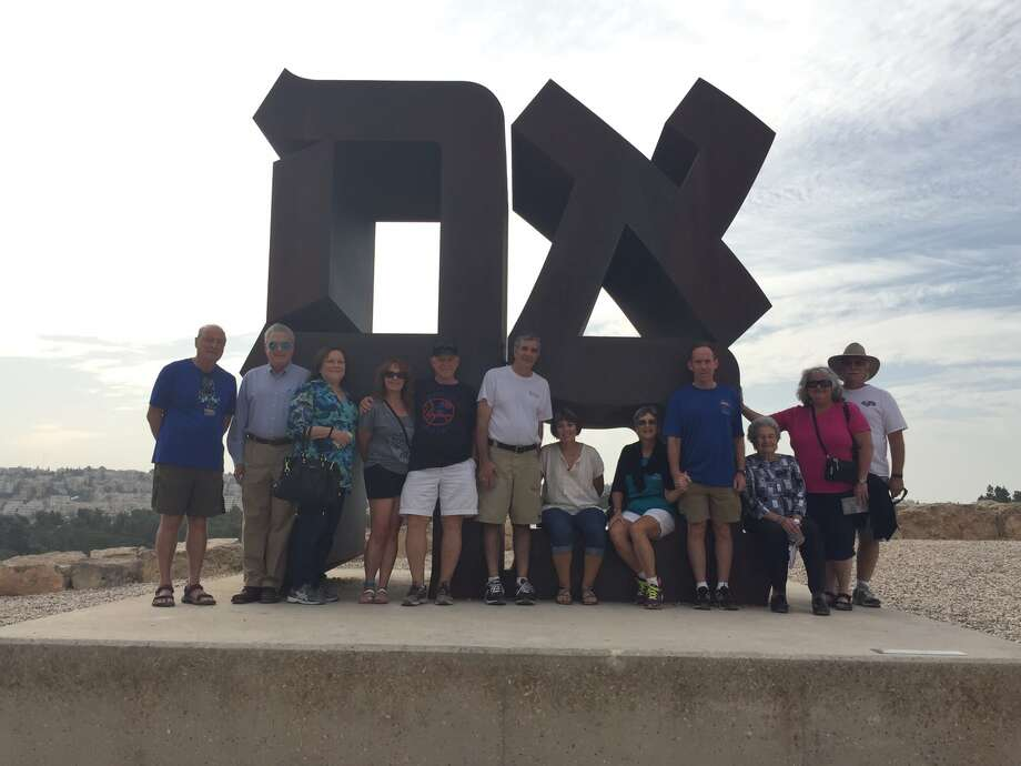 A recent tour group with the JCC Israel Center at the Israel Museum. Photo: Evelyn Rubenstein JCC