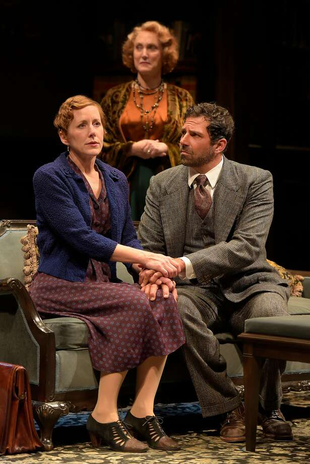 """From left: Sarah Agnew as Sara Muller, Caitlin O'Connell as Fanny Farrelly and Elijah Alexander as Kurt Muller in """"Watch on the Rhine"""" at Berkeley Rep. Photo: Kevin Berne, Berkeley Repertory Theatre"""