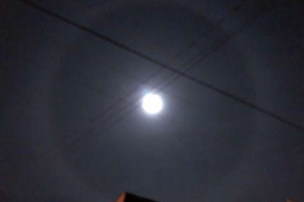 """Duncan Graham took this photo of a """"moon halo"""" in the Bay Area on Dec. 1, 2017."""