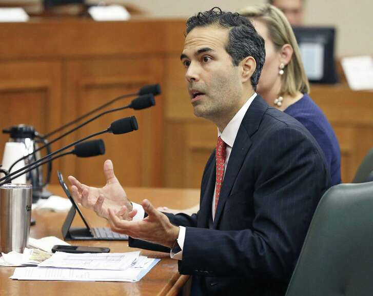 Land Commissioner George P. Bush answers questions as the Senate Finance Committee takes up state expenditures by the General Land Office for the Alamo on Dec. 5.