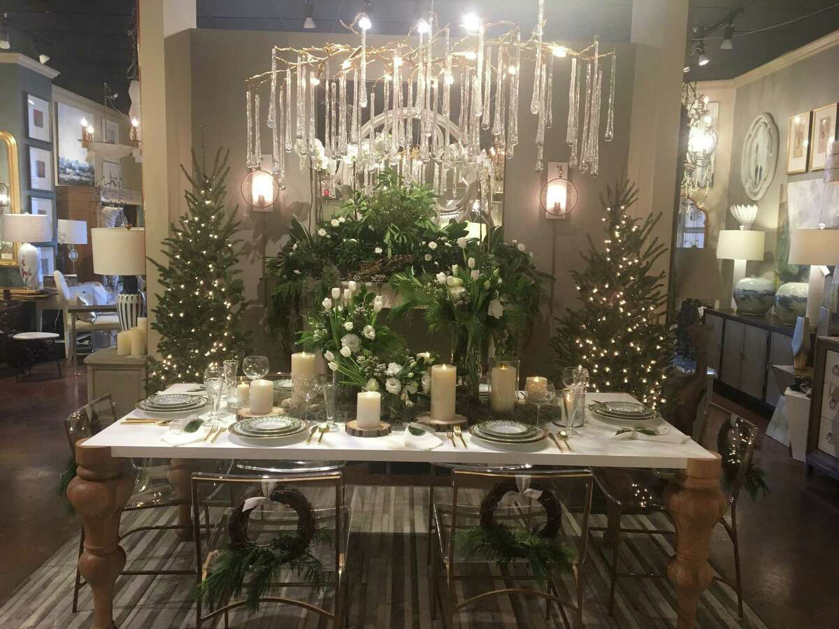 Connie LeFevre of Design House at the Houston Design Center went for a simple but luxurious display in her tablescape. Her them was