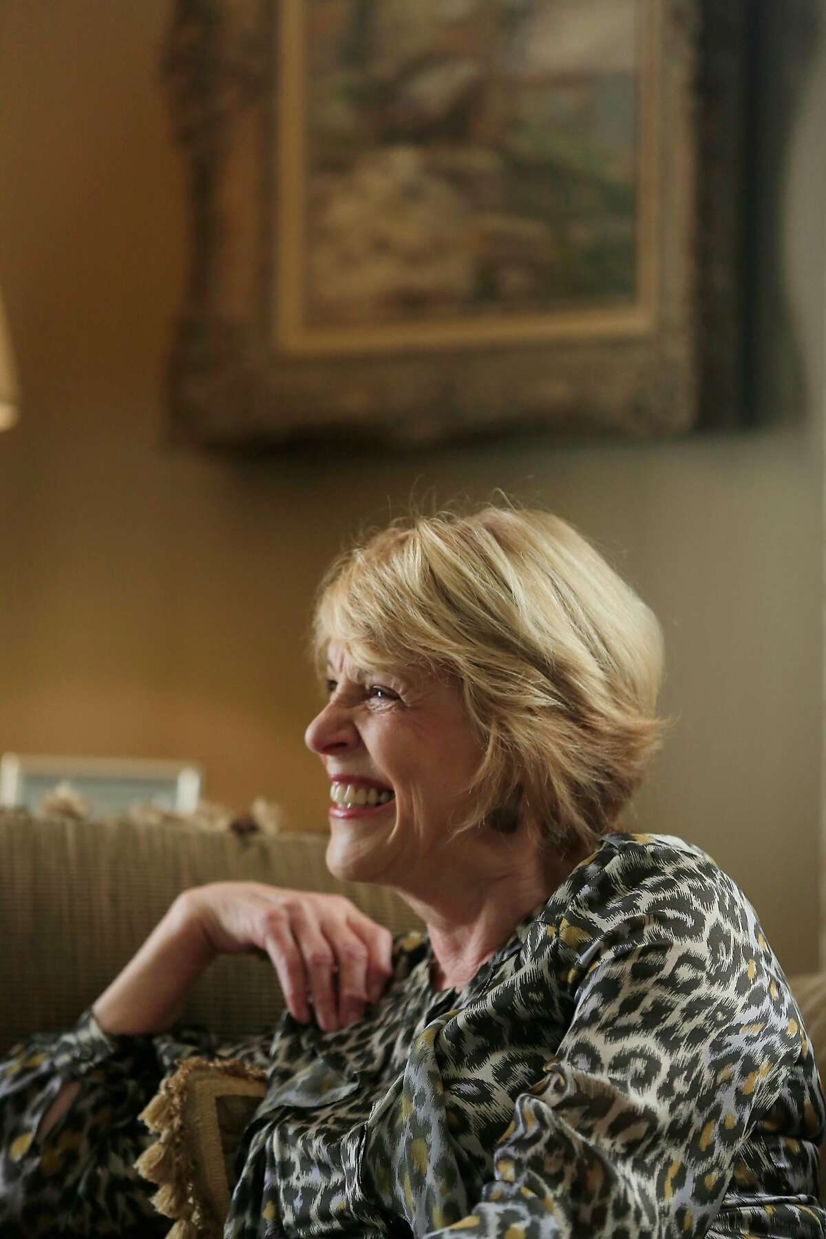 Dagmar Dolby, wife of late Ray Dolby, answers questions during an interview at her home on Tuesday, December 5, 2017 in San Francisco, Calif. Ray and Dagmar Dolby Family Fund gifting $115 million to Ray Dolby's alma mater University of Cambridge's Cavandish Labs.