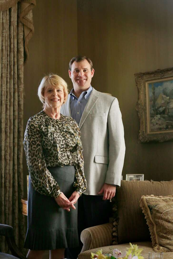 Dagmar Dolby (l to r),  wife of late Ray Dolby, and David Dolby, son of late Ray Dolby, stand for a portrait on Tuesday, December 5, 2017 in San Francisco, Calif.   Ray and Dagmar Dolby Family Fund gifting $115 million to Ray Dolby's alma mater University of Cambridge's Cavandish Labs.