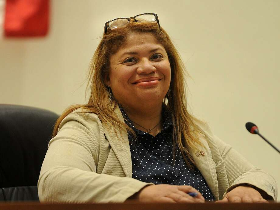 Newly-elected Bridgeport City Coucil President Aidee Nieves at City Hall in Bridgeport, Conn. on Monday, December 4, 2017. Photo: Brian A. Pounds / Hearst Connecticut Media / Connecticut Post