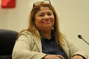 Newly-elected Bridgeport City Coucil President Aidee Nieves at City Hall in Bridgeport, Conn. on Monday, December 4, 2017.